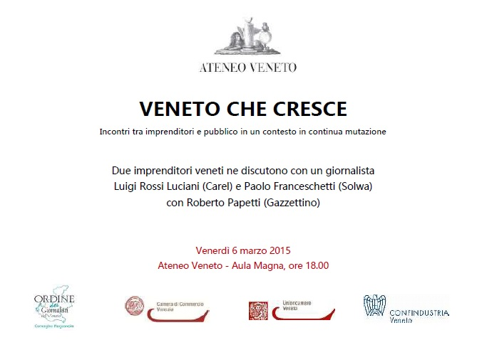 The President of CAREL a guest at Veneto che cresce