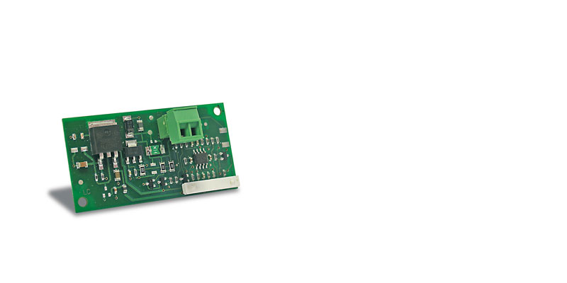 Belimo FieldBus card, used to connect the pCO sistema to a maximum of 8 servo controls that communicate using the MP-BUS® protocol