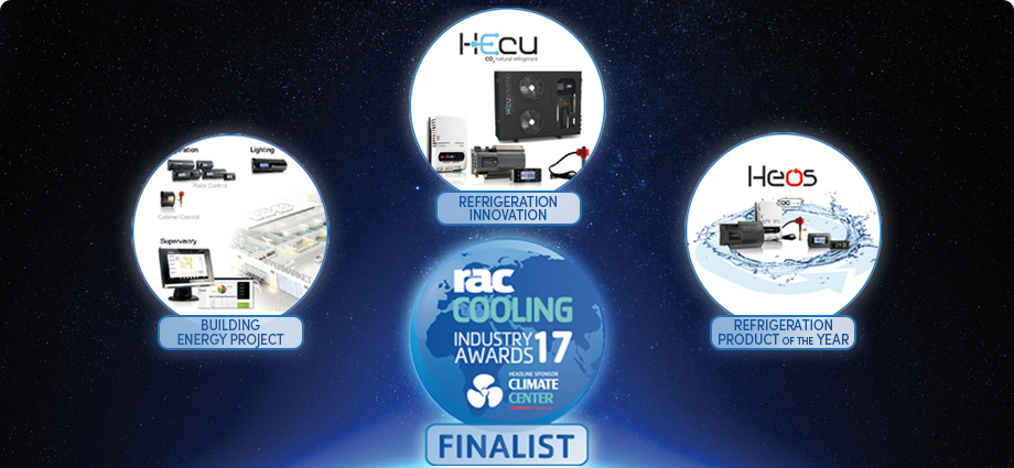 CAREL short-listed in three categories at the RAC Cooling Awards